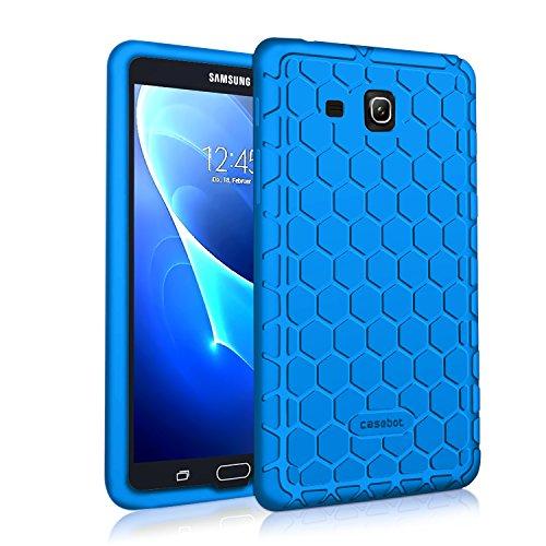Fintie Silikon Hülle für Samsung Galaxy Tab A 7.0 SM-T280 / SM-T285 (7 Zoll) Tablet-PC - [Bienenstock Serie] Leichte rutschfeste Stoßfeste Silikon Schutzhülle Tasche Case Cover, Blau