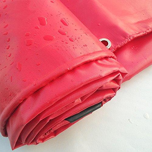 Pengbu MEIDUO Bâches Tricycle d'auvent imperméable de Toile de Tissu de Pluie de Toile Rouge de PVC 500g / m2-0.4mm pour l'extérieur (Couleur : Rouge, Taille : 4mx8m)