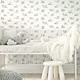 RoomMates RMK11778RL Taupe and Gray Disney Baby Animals Peel and Stick Wallpaper