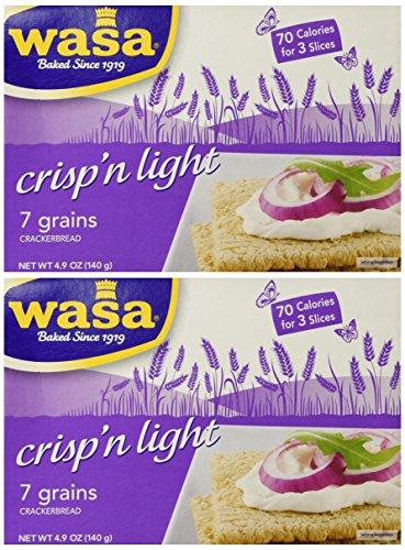 WASA CRISPBREAD 7GRN LTE, 4.9 OZ (Pack of 2)