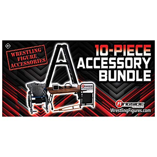 Wrestling 10 Piece Accessory Bundle - WWE Mattel Action Figure Accessories [Ringside Collectables]