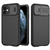 """Custodia per iPhone 12 Mini 5.4"""", Cover CamShield [Protezione Fotocamera], Protettiva Ultra Sottile Leggero Design Scorrevole Anti Graffio Antiurto Rigido PC Bumper (Nero)"""