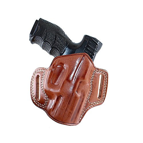 Premium Leather OWB Pancake Holster with Open Top Fits, Sig P225 A1 with Rail, Right Hand Draw, Brown Color #1075#
