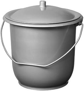 ALUMINIUM ET PLASTIQUES - Seau hygienique modele enfant Ø 23 mm 5 litres avec couvercle avec Anses en acier galvanisé et C...