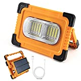 ORHOMELIFE Portable LED Work Light Flashlight, 10000 mAh Rechargeable Work Light with Magnetic Base, Solar Charging, USB Input/Output, 5 Modes Bright Light for Repairing, Outdoor Camping, Emergency