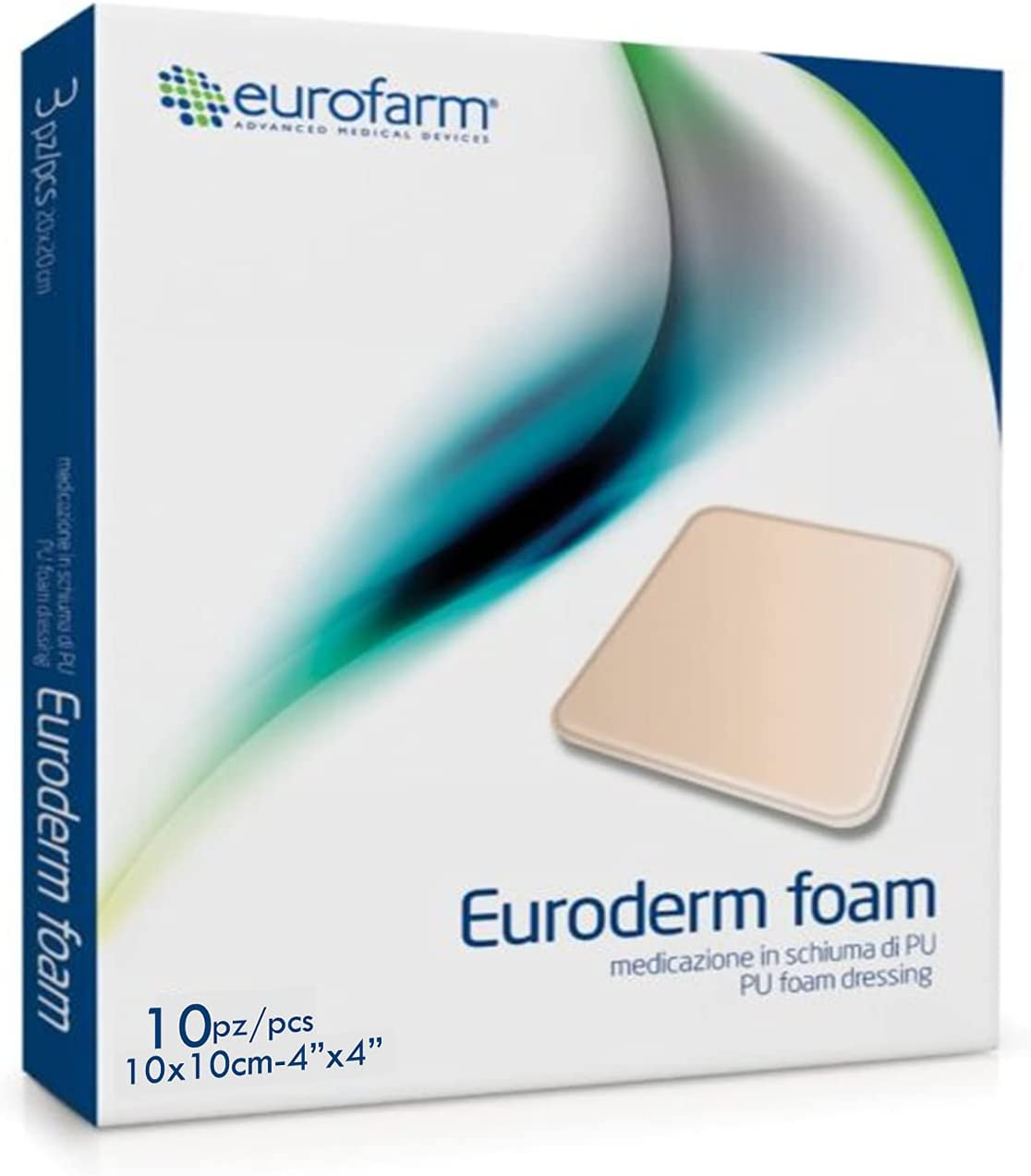 Euroderm Foam Wound Dressing 4 Outlet ☆ Free Shipping P New color Hydrocellular x Inches –