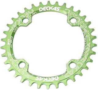 COOLOH Black/Red/Green/Blue/Gold/Purple Round/Oval Single Chainring 32T/34T/36T/38T/ 104 BCD Bike Narrow Wide Chainrings, Perfect Most Bicycle Road Bike Mountain Bike MTB Track Fixed-Gear Bicycle