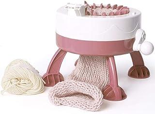 Knitting Machine, Smart Weaving Loom Round Knitting Machines, Knitting Board Rotating Double Knit Loom Kit for Sock/Hat/Pu...