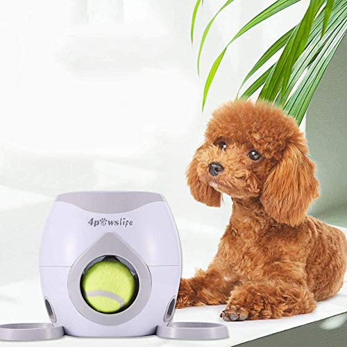 Interactive Training ToyDog Feeder Dog Ball Fetch and Interactive Food Reward DispenserTreat Toy Tennis Ball Reward Machine for Dogs Interactive Dog Toys(NOT A Launcher)
