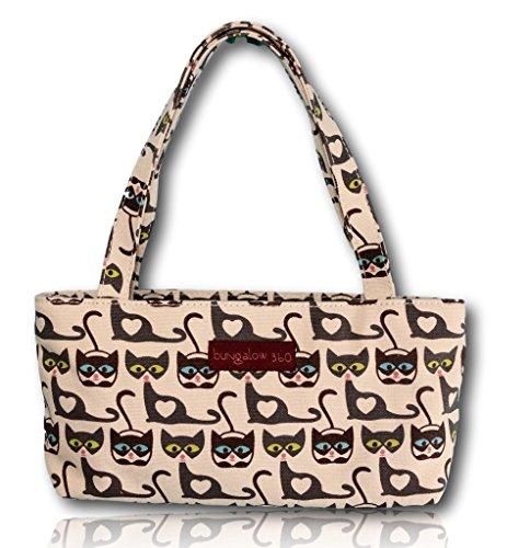 Bungalow360 Vegan Cotton Canvas Mini Bag (Cat)