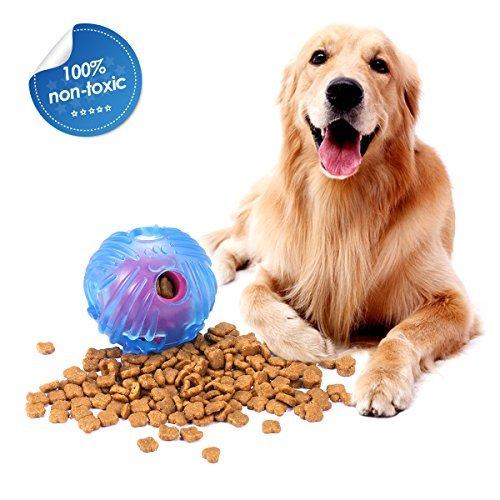 FOCUSPET Dog Ball Toy, Nontoxic & Odor Free Interactive...