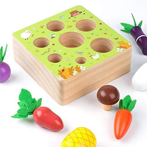 Onlyonehere Holzspielzeug Montessori,Karotte Spielzeug,sortierspiel Holz Für Kinder,motorik Spielzeug Kleinkind,karottenernte Montessori,pädagogisches Spielzeug Holz, Holz Spielzeug Ab 1 Jahr Baby