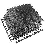 StillCool Tapis de fitness, 20 pièces de 1 cm d'épaisseur, dalles emboîtables en mousse EVA avec bordures, tapis de protection multifonctionnel pour la maison, la salle de sport (30,5 x 30,5 cm)