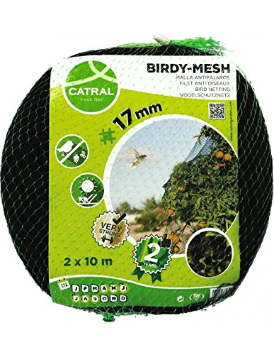 Catral 01010002 Malla Antipájaros Reforzada Tejida, Negro, 1000x3x200 cm