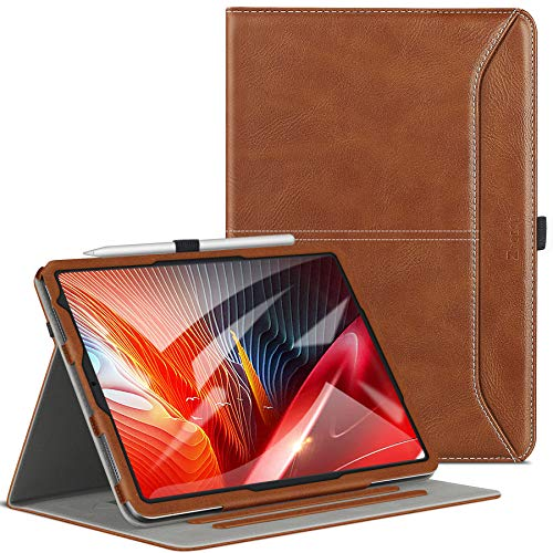 Ztotop Case for New iPad Air 4 Case 10.9 Inch, Premium Leather Folding Stand Case Cover with Auto Wake/Sleep, Pencil Holder, Multiple Viewing Angles for iPad Air 4th Generation Case Cover 2020, Tan