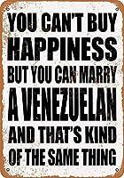 Can Marry A Venezuelan メタルポスター壁画ショップ看板ショップ看板表示板金属板ブリキ看板情報防水装飾レストラン日本食料品店カフェ旅行用品誕生日新年クリスマスパーティーギフト