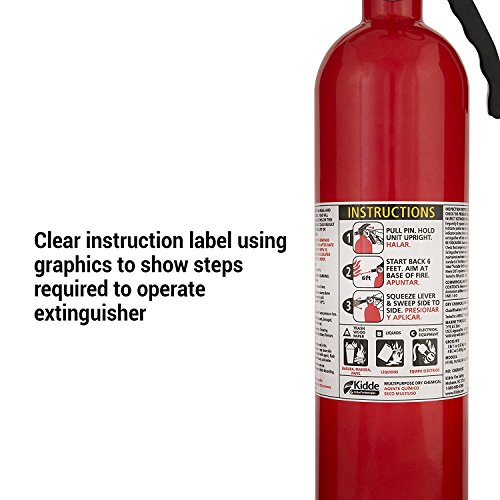 Kidde FA110 Multi Purpose Fire Extinguisher 1A10BC, 1 Pack