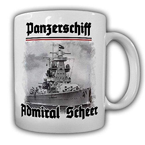 Tasse Panzerschiff Admiral Scheer Schiff Marine Panzerkreuzer-A Deutschland-Klasse Foto Becher #20575