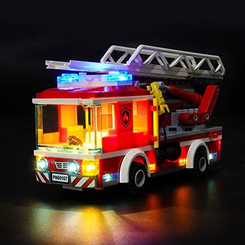 Licht-Set Für (City Feuerwehrfahrzeug) Modell - LED Licht-Set Kompatibel Mit Lego 60107(Modell Nicht Enthalten)