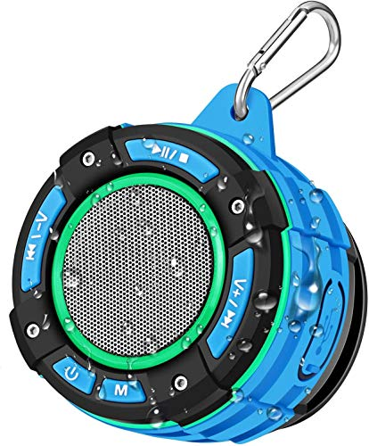 Altavoz Bluetooth Portátil para Ducha, BassPal Altavoz Bluetooth Impermeable IPX7 con Sonido...