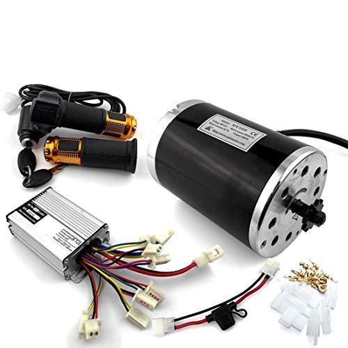 L-faster Motor de 36V48V 1000W Unitemotor MY1020 con el Acelerador y el regulador Motor eléctrico de la impulsión de la Cadena de la Vespa del Poder más Elevado DIY Gocart Kit (36V Upgraded Kit)