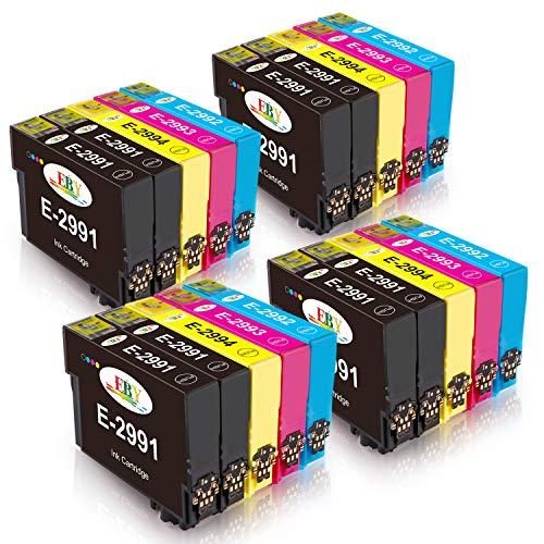 EBY Compatible 29XL Cartuchos de Tinta con Expression Home XP-245 XP-235 XP-247 XP-255 XP-345 XP-332 XP-342 XP352 XP432 XP-442 XP-445 XP-452 XP335 (8 Negro, 4 Cian, 4 Magenta, 4 Amarillo)