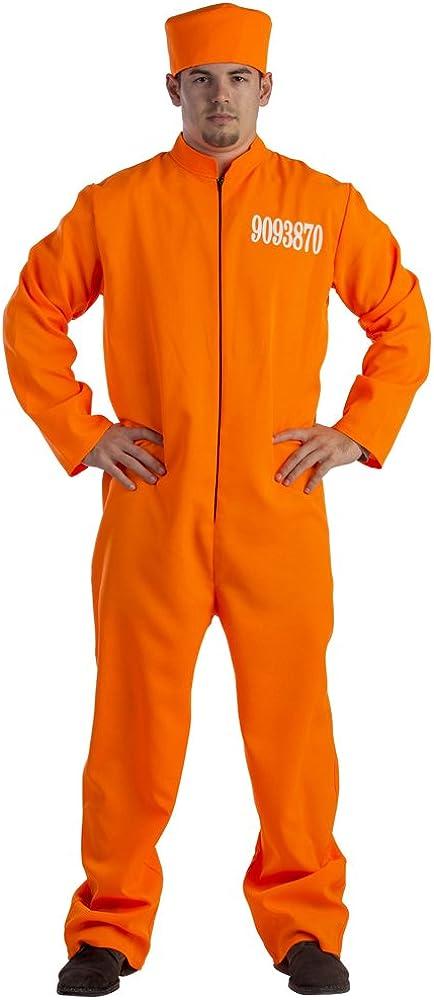 Dress-Up-America 5 ☆ Sale price popular Prisoner Costume For Adults Orange Prison Jum -