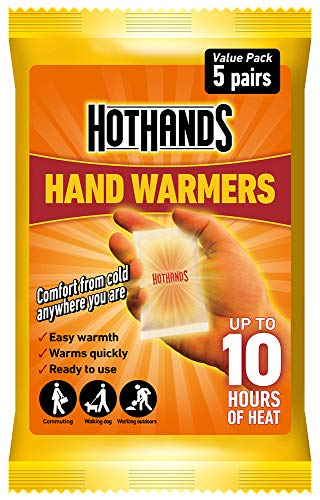 HOTHANDS Hand Warmers - 5 Pairs - 10 hours of heat - Air activated - Ready to use