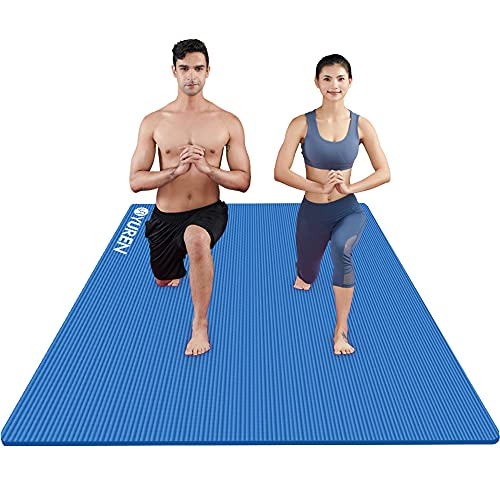 RYTMAT Esterilla Yoga 200×130cm/120cm Extra Ancho 15mm/10mm Gruesa Colchoneta de Yoga NBR Antideslizante Alfombrilla de Yoga Esterilla Pilates Esterilla Deporte