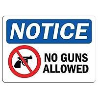 屋外と屋内の看板の壁の装飾に関する通知銃は許可されていませんサイン、ビンテージの外観の再現屋内と屋外での使用が簡単なガレージ用のアルミニウム金属の看板