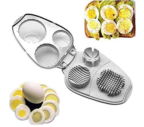 Huevo máquina de Cortar 3 en 1 de Acero Inoxidable máquinas de Cortar manuales para Duros de Herramientas Herramientas de Cocina Huevos Blancos de Cocina