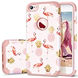 Fingic Phone case Compatible for iPhone 6/iPhone6s,Summer Pineapple&Flamingos Pattern Cute Case Hard PC&Soft Silicone Case for Girls Cover for Apple iPhone 6/6s,Pink