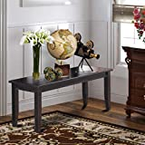 Dudley Dining Bench with Wood Seat in Black Finish