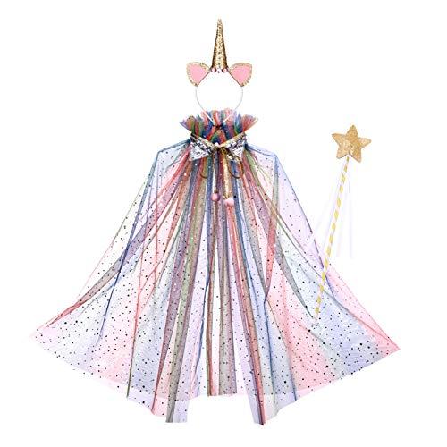 SOIMISS Umhang für Weihnachten, Party, Cosplay, Regenbogen-Umhang, Dekoration für Mädchen, Party, X14RWT1522PP2GX, X14RWT1522PP2GX 56
