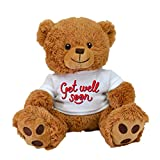 Limited Edition! Customized GET Well Soon! Cute,Teddy Bear ,Plush Animal Best for Visits,Hospital Sick Present (Brown Bear)