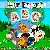 ABC Pour Enfant: 26 cartes géantes pour apprendre l'alphabet, theme animaux. 3 ans et plus.