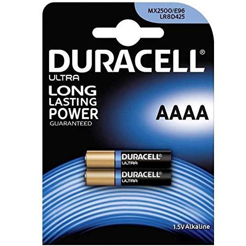 Duracell MX2500 Batterie für den Hausgebrauch, AAAA Alkalin, Einzelbatterie, AAAA, Alkalin, 2 Stück, Schwarz, Gold, 18 g