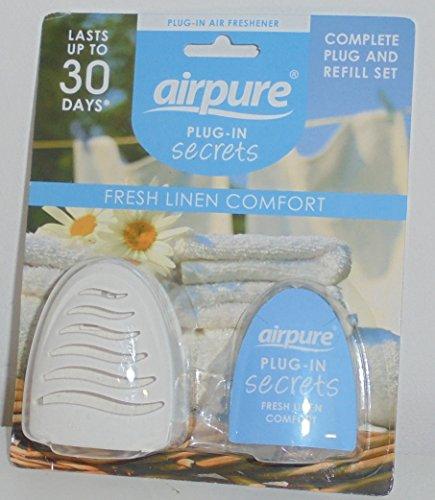 Airpure Hawaiian Tropical Zing oder Fresh Linen Comfort diskreter, versteckter Lufterfrischer, Komplettset.