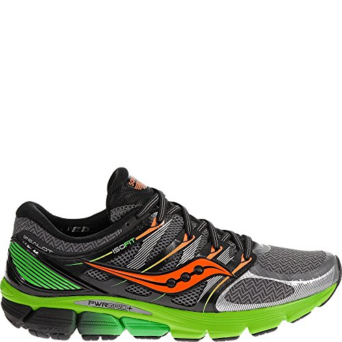 Saucony Men's Zealot-ISO Series Running Shoe,Grey/Blue/Red,8.5 M US
