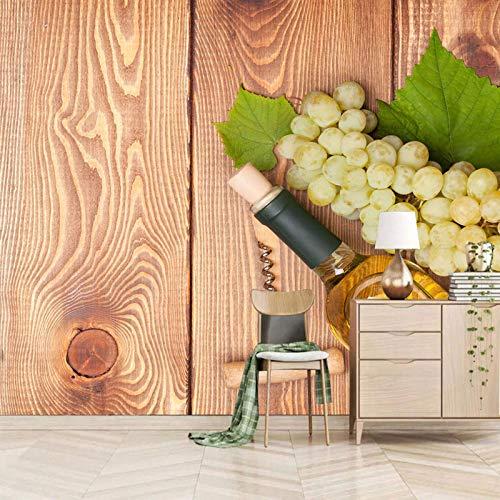 RCIFGU Murales de pared 3D Cartel de vino Autoadhesivo papel tapiz para niños, habitación, decoración del dormitorio póster pintura de pared decorativa 300x210cm