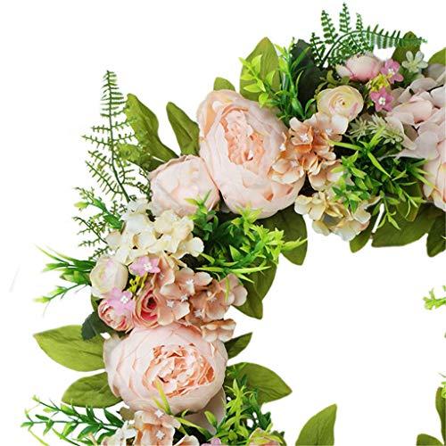 rongweiwang Colgante Flor Artificial de la Guirnalda de la Puerta Simulación decoración Floral Guirnalda de la Flor de Ministerio del Interior Falso Guirnalda de Flores