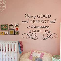 Every good and perfect gift is from above. - James 1:17