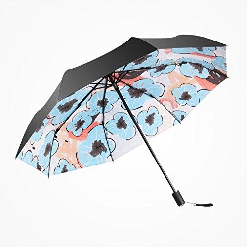 Unbekannt &Regenschirm Falten Repell Windproof Reise Regenschirm mit Teflonbeschichtung (Farbe : A)
