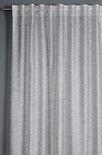 Schlaufenschal Norderney Schal 135x245 grau kariert Vorhang Gardinenband
