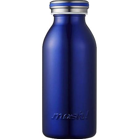 水筒 真空断熱 スクリュー式 マグ ボトル 0.35L ネイビー mosh! (モッシュ! )