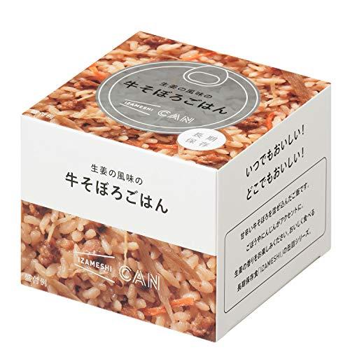IZAMESHI(イザメシ) CAN 缶詰 生姜の風味の牛そぼろごはん 1ケース 24缶入 長期保存食 防災食 非常食