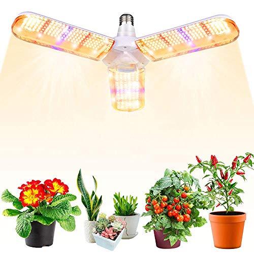 150W LED Pflanzenlampe,E27 414 LEDs Vollspektrum Pflanzenlicht, Achstumslampe ähnlich dem Sonnenlichts für Zimmerpflanzen,Gewächshaus,Hydroponische Pflanzen und Gemüse,Sämling Gemüse, Blumen