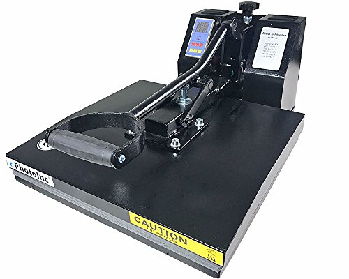 ePhotoInc New 15' x 15' T Shirt Heat Press Machine T Shirt Transfer Machine 1515BLK