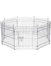 dibea Parque jaula para mascotas pequeñas recinto plegable con puerta 8 elementos (M) 59x58 cm