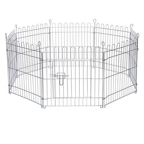 dibea Freilaufgehege für Kleintiere Auslauf für Kaninchen Kleintiergehege (M) 59x58 cm